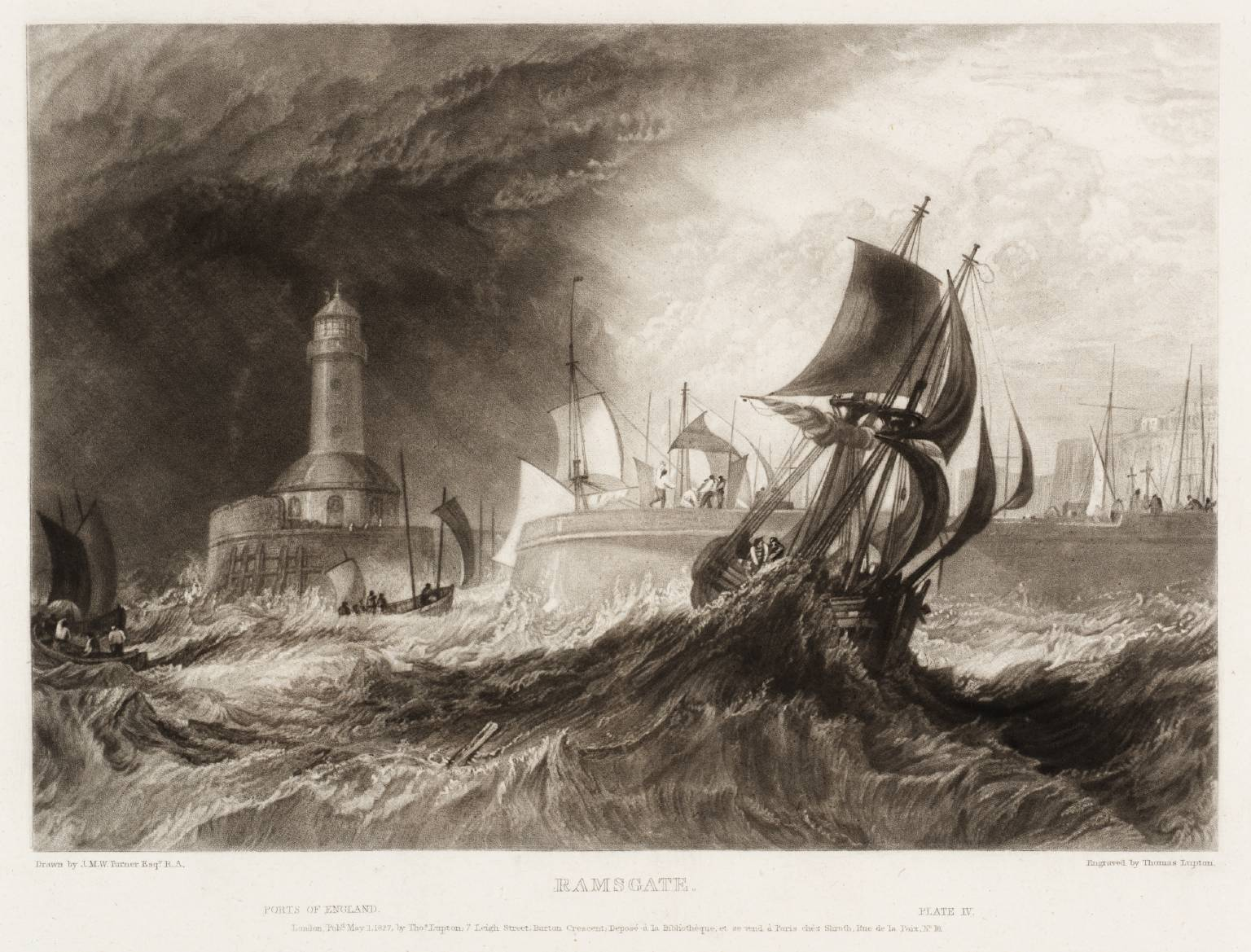 Ramsgate, engraved by Thomas Lupton 1827 Joseph Mallord William Turner 1775-1851 Purchased 1986 http://www.tate.org.uk/art/work/T04831
