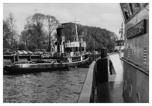 The biggest of ITL's steam tugs 'GOLIATH' moored at Rotterdam.
